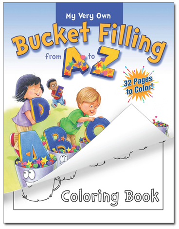 Bucket Filling a to Z Coloring Book Cover