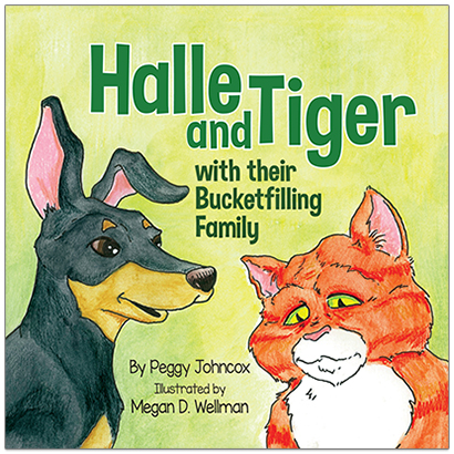 Book Cover: Halle and Tiger with their Bucketfilling Family