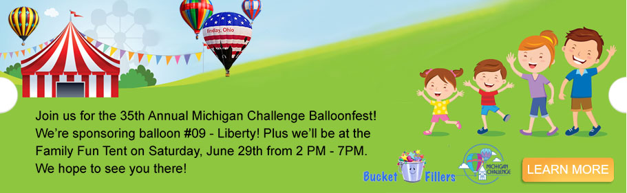 <p>Join us for the 35th Annual Michigan Challenge Balloonfest! We're sponsoring a balloon and we'll be at the Family Fun Tent!</p>